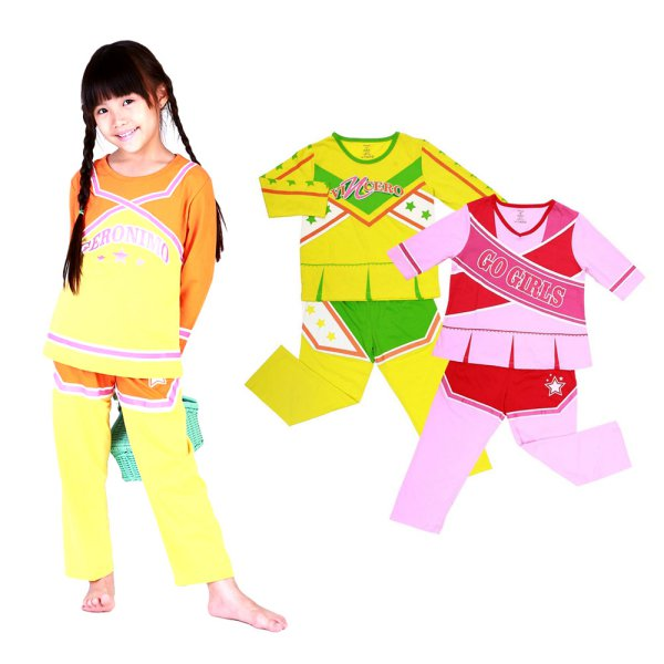 Piyama Anak Perempuan - House Of MC CHEERLEADER - 2Y-10Y - BAHAN KATUN
