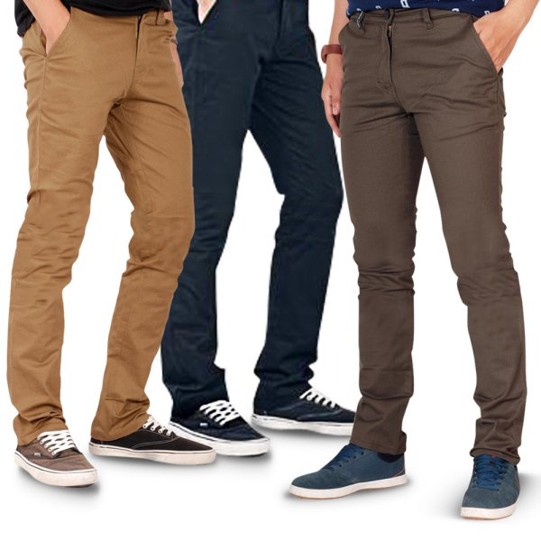 harga OliveInch - Chino Pants Slimfit / 6 Warna / Twill Stretch /Celana Panjang Chino elevenia.co.id