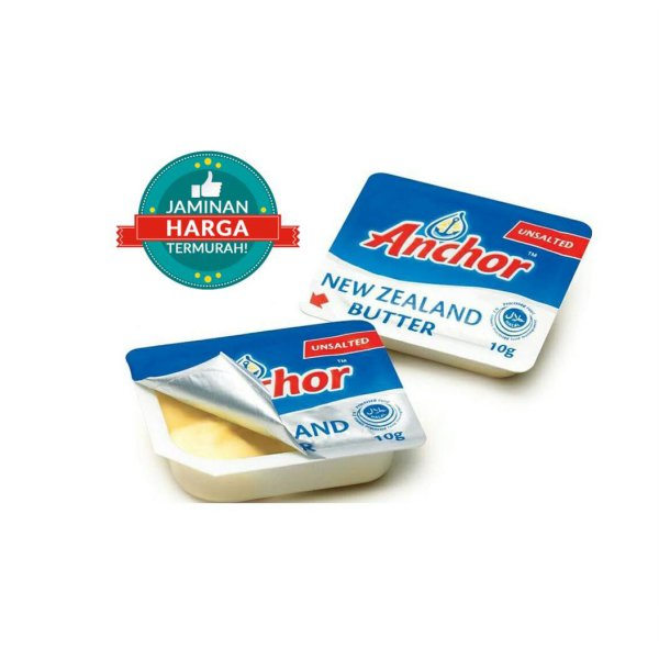 harga Anchor Unsalted Butter Mini Portion 10 Cup Per Pack elevenia.co.id