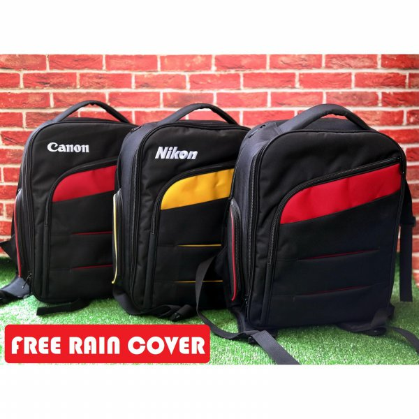 harga Tas Kamera SLR DSLR Ransel Backpack Medium Canon Nikon dan Polos Free Raincover elevenia.co.id