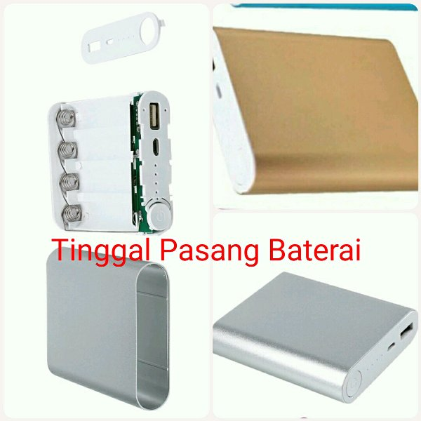 harga DIY powerbank power bank case charger console exchangeable 4 x battery modul baterai 18650 elevenia.co.id