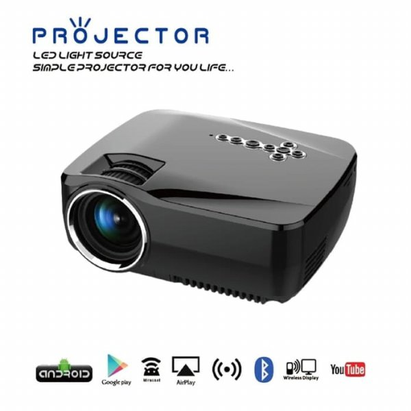 harga LED MINI Proyektor GP70-UP + 1500 ANSI Lumens with built-in ANDROID elevenia.co.id
