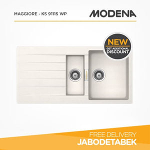 harga Kitchen Sink MODENA MAGGIORE - KS 9111S WP elevenia.co.id