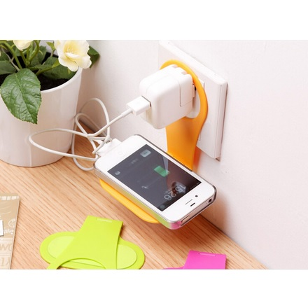 harga Wall Hanger Docking Stand Holder Charger Handphone elevenia.co.id