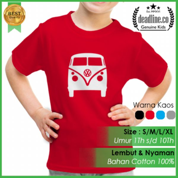 harga KAOS ANAK VW COMBI - EXCLUSIVE DESIGN elevenia.co.id