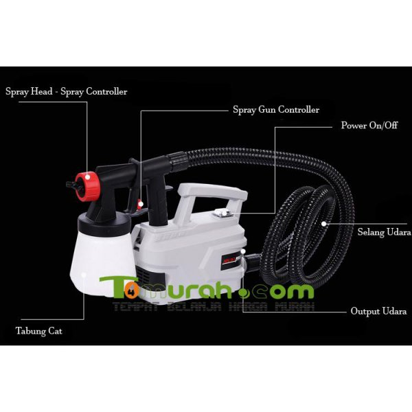 harga [Best Seller] Electric Spray Gun - 800 Watt Untuk Cat Tembok/Cat Mobil/Cat Furniture elevenia.co.id