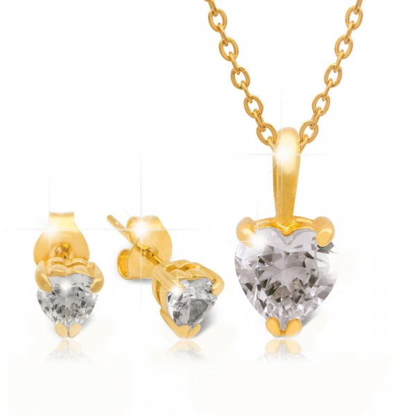 18K Gold-plated with amore big round style of Swarovski Zirconia