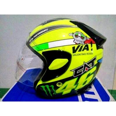 harga (Limited Offer) Helm CAT Rossi / helm half face / helm murah elevenia.co.id