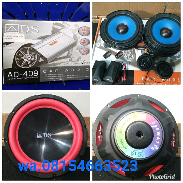 harga Paket ADS.power ADS 4chenel.speaker split ADS and subwoofer ADS 12inch.audio mobil murmer elevenia.co.id