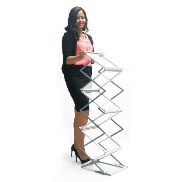 harga Rak Brosur / Brochure Rack Portable / Display utk pameran & Promosi elevenia.co.id