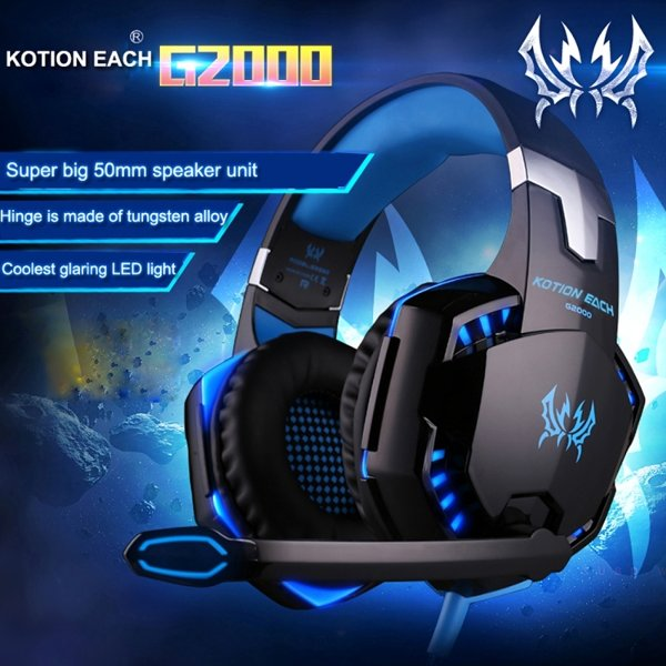 harga KOTION EACH G2000 Over-ear Game Gaming Headphone Headset with Mic Stereo elevenia.co.id