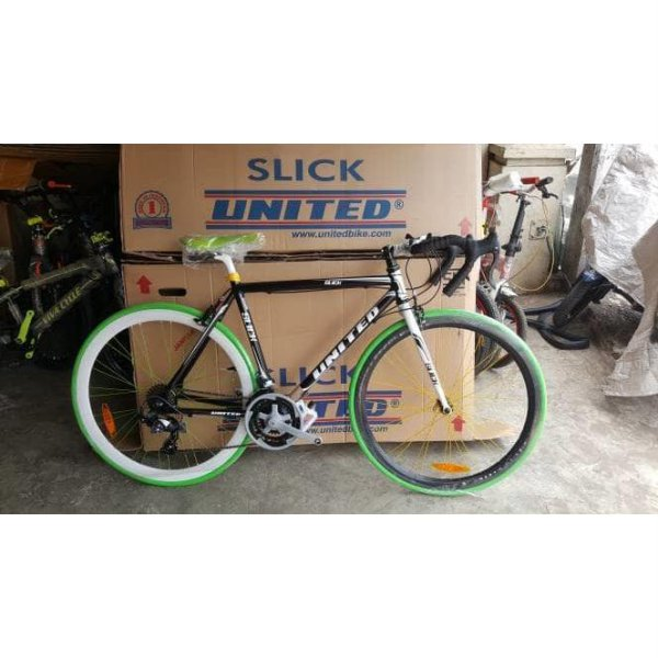 harga Sepeda UNITED Fixie Balap Slick 71 frame alloy modif Stang Balap elevenia.co.id