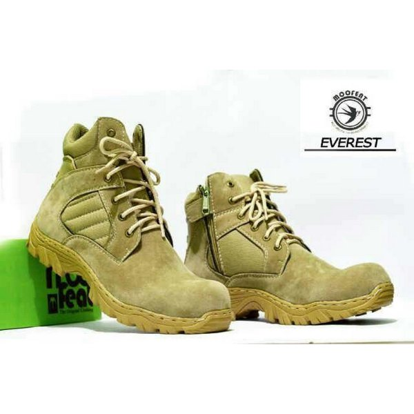 harga Sepatu Boots Moofeat Everest Import High Quality Desert color elevenia.co.id
