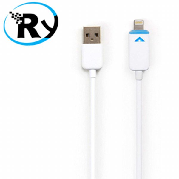 harga (Termurah) Taff Luminous Conector Lightning 8 Pin USB Cable iOS 8 Compatible - Wh elevenia.co.id