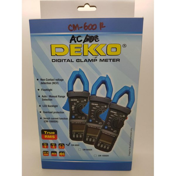 harga [Recommended] Clamp Meter AC ( Tang Ampere ) DEKKO CM-600R ( TRUE RMS ) Thermometer elevenia.co.id