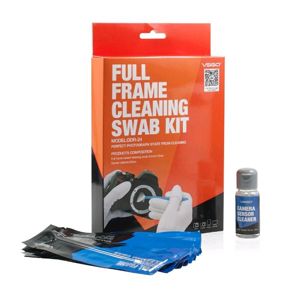 harga VSGO DSLR Sensor Cleaning Swabs Kit 12pcs with Liquid Cleaner Solution for Nikon Canon Sony Full Frame Digital Cameras elevenia.co.id