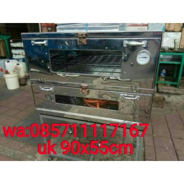 harga [Sale] OVEN GAS KUE STAINLIS UK 90x55x70CM+THERMOMETER elevenia.co.id