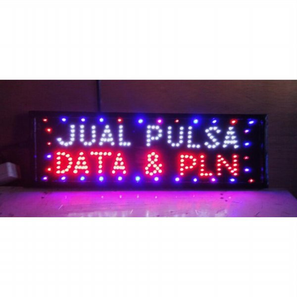 harga Tulisan lampu led / led sign jual pulsa data & pln kelap kelip new elevenia.co.id