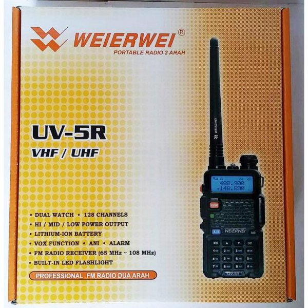 harga [Gold Product] HT Weierwei UV-5R Dual Band VHF/UHF + BONUS Handsfree elevenia.co.id