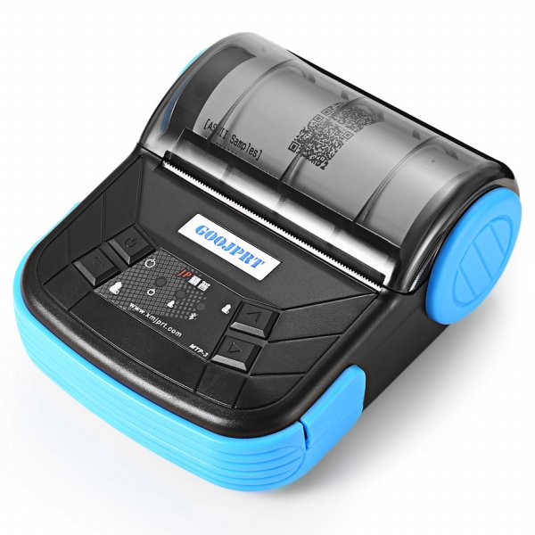 harga Mini Portable Bluetooth Thermal Receipt Printer - MTP-3 - Black elevenia.co.id