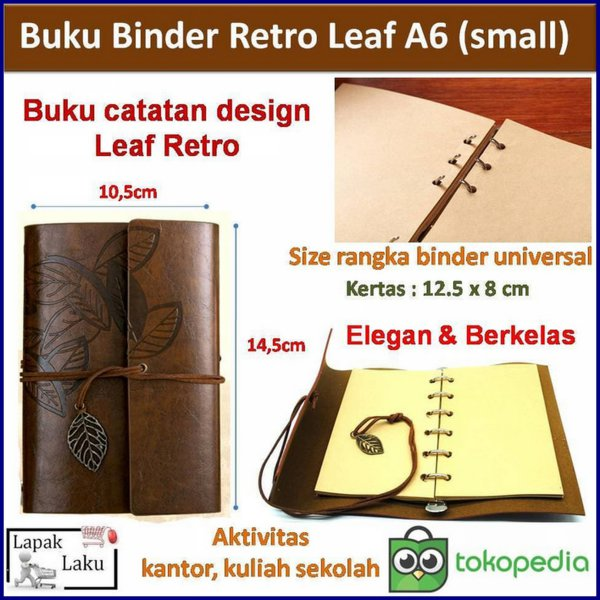 harga Buku Binder Retro Leaf Coffee A6 Small elevenia.co.id
