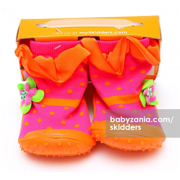 harga Skidders Rubber Flexible Shoes - Orange Dots elevenia.co.id