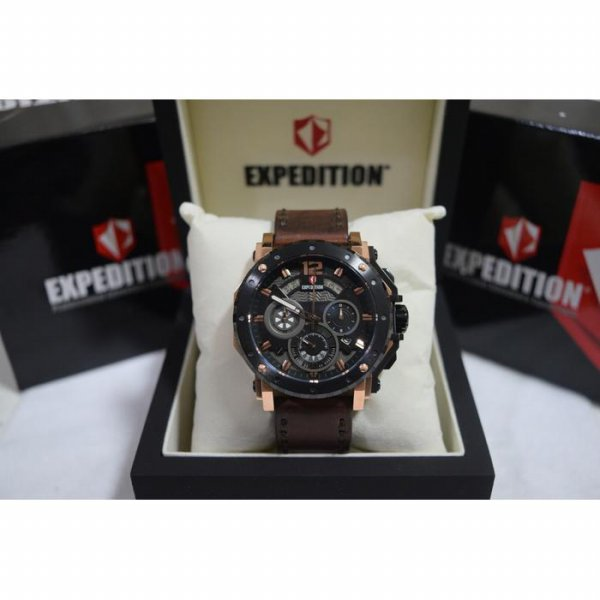 harga Expedition E6402 Rose Gold Black Leather Brown for Men elevenia.co.id