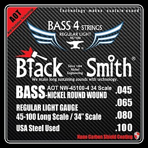 harga Black Smith Strings Electric Bass 45-100 Long Scale NW-45100-4 (AOT) elevenia.co.id