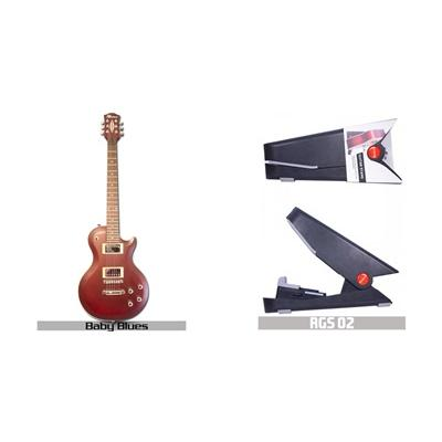 (SET) Rockwell Electric Guitar RLP BABY BLUES + Rockwell RGS 02 Guitar Stand