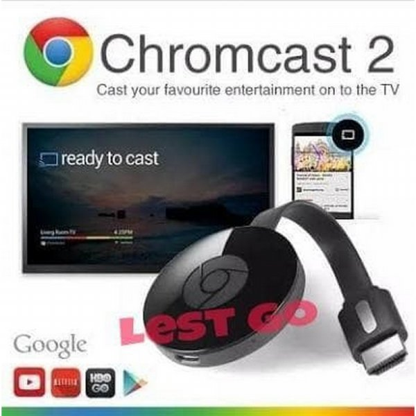 harga [Gold Product] Receiver Dongle Hdmi Wifi ChromeCast 2 Wireless Display Tv G1-1 elevenia.co.id