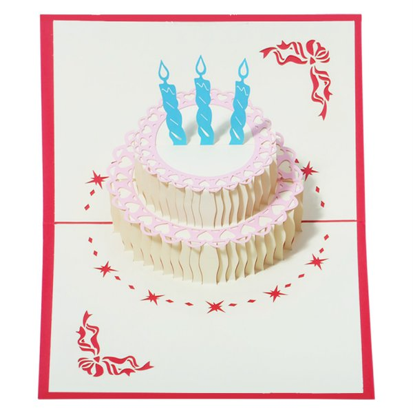 harga Outerbloom Birthday Cake 3D card elevenia.co.id