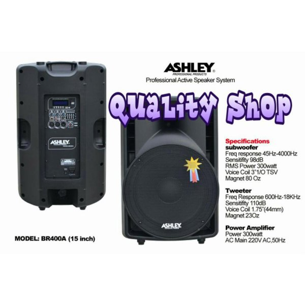 harga Dijual SPEAKER ACTIVE MONITOR 15 INCH ASHLEY BR-400A ( 2 UNIT Berkualitas elevenia.co.id