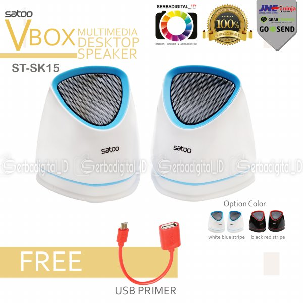 harga Speaker Satoo ST-SK15 Stereo Multimedia For Computer/Android/Notebook elevenia.co.id