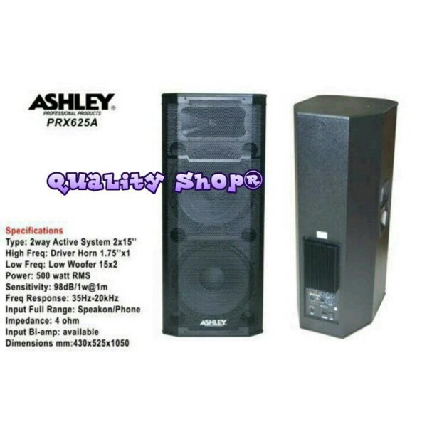 harga Unik SPEAKER MONITOR 2 X 15 INCH ACTIVE ASHLEY PRX-625A 500 Limited elevenia.co.id