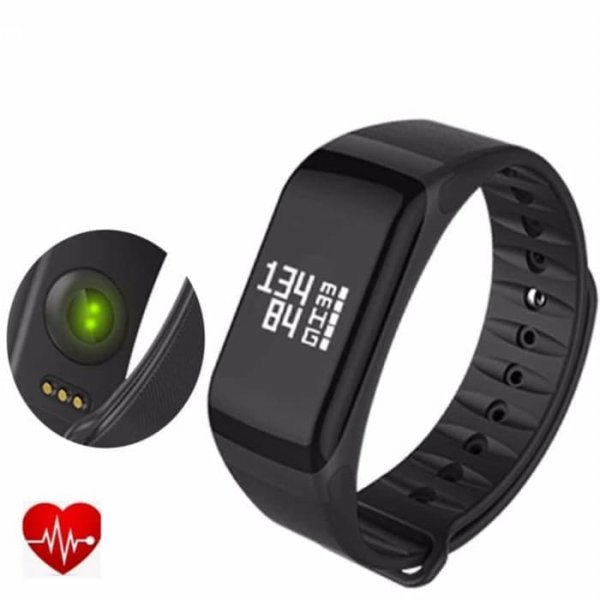 harga 4Fit Blood Pressure and Oxigen Monitor Waterproof Activity Tracker - Hitam elevenia.co.id