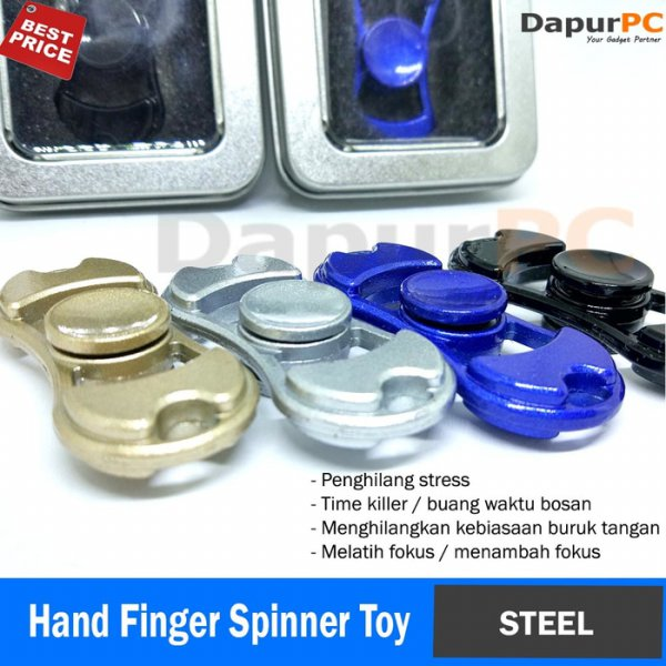 harga Metal Fidget Hand Finger Spinner Toy Mainan - Steel - Besi - 5.5 cm elevenia.co.id