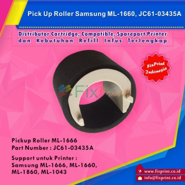 harga Pick Up Roller Samsung ML1666 ML1660 ML 1860 ML1043, OEM Part JC61-03435A elevenia.co.id