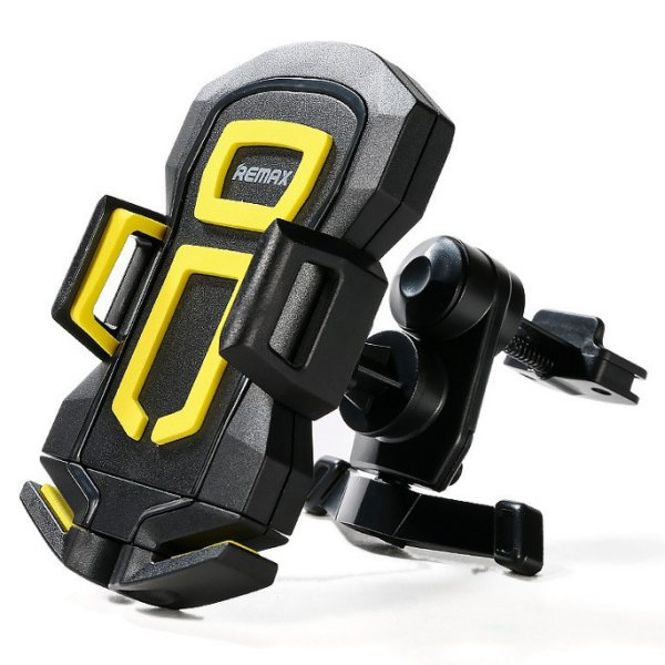harga Remax Air Vent Smartphone Holder - RM-C14 - Black/Yellow elevenia.co.id