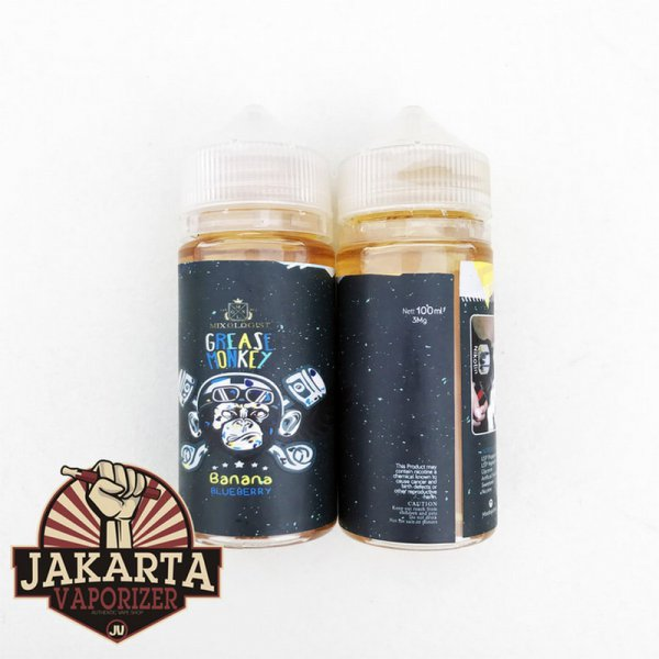 harga [Ready] Grease Monkey Banana Blueberry 100ML 3MG by MIXOLOGIST Liquid Vape elevenia.co.id