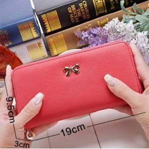 harga Dompet simpel pita Korean cross pattern purse bow bdo022 | OLA elevenia.co.id
