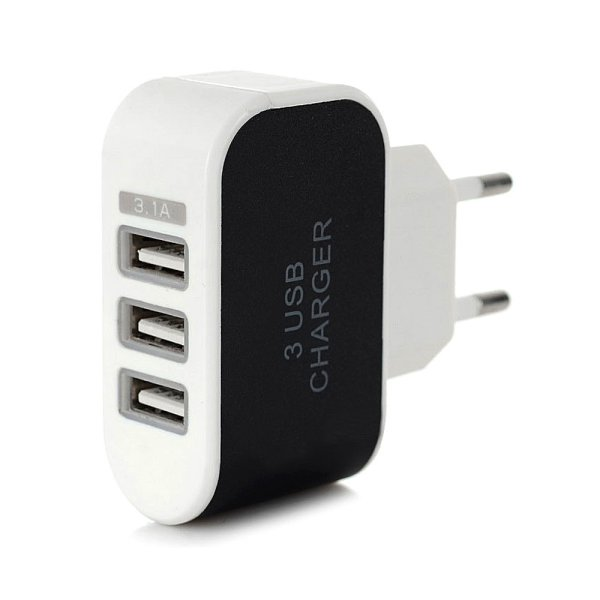 harga [SALEEE] Adaptor Charger 3 USB output 3.1A | fast charging Batok Cas Carger Adapter elevenia.co.id