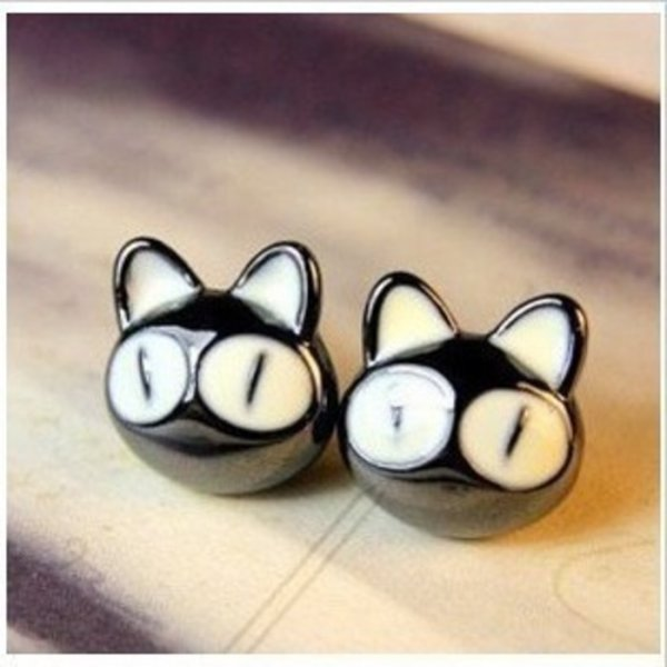 harga Anting kucing lucu mata besar / cute big eyes kitten earrings JAN036 | OLA elevenia.co.id