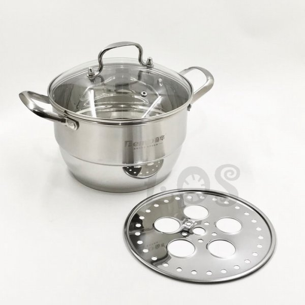 harga Panci Kukus Stainless Double Bottom FENVO Steamer 22cm (00313.00018) elevenia.co.id