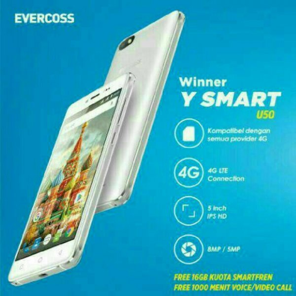 harga EVERCOSS U50 WINNER Y SMART 4G/5