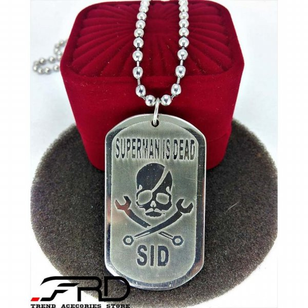 harga Kalung Liontin SID / Pendant Superman Is Dead / Necklace Chain Army elevenia.co.id