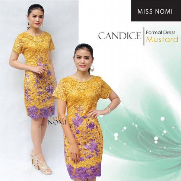 harga Dress Pesta Brukat Dress Candice Dress Wedges Dress Nat elevenia.co.id