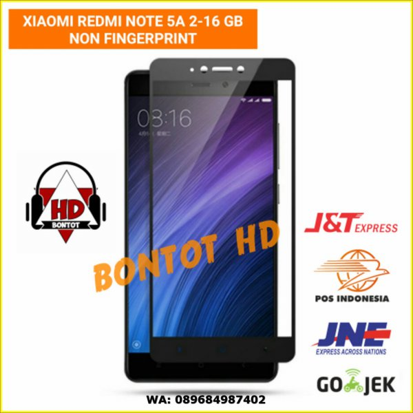 harga Xiaomi Redmi Note5A NOTE 5A 2-16 GB Tempered Glass Color Full Layar HP elevenia.co.id