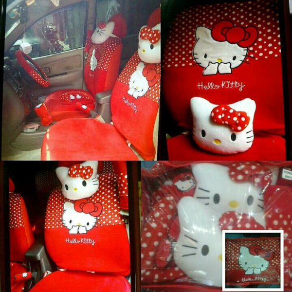 harga Sarung Jok Hello Kitty Merah 18 In 1 Universal Mobil elevenia.co.id