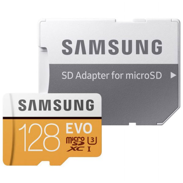 harga Samsung MicroSDXC EVO Class 10 UHS-1 (100MB/s) 128GB With SD Adapter - MB-MP128GB elevenia.co.id