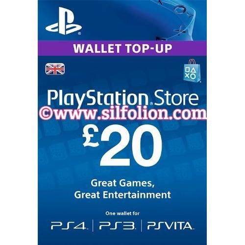 harga (Limited) PSN Card UK 20 GBP Region 2 PS4 PS3 PS Vita elevenia.co.id